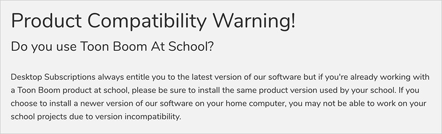 Product Compatibility Warning!