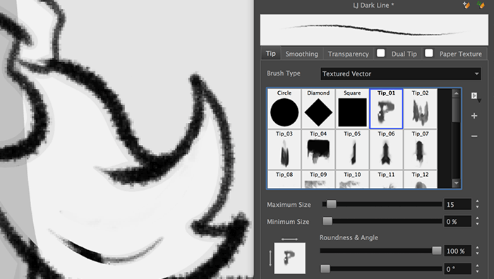 Textured Vector Brushes
